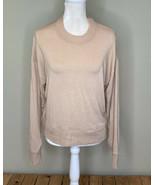 j crew women's Long sleeve pullover sweater Size M tan - $23.66