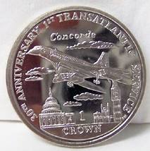 IOM 30 ANNIVERSARY OF CONCORDE 2006 CROWN CUNI COIN UNC - $22.24