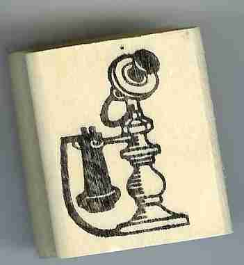 Primary image for a Candlestick telephone phone Rubber Stamp made in america free shipping