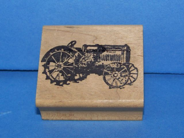 Primary image for a McCormick Deering Tractor Rubber Stamp made in america free shipping