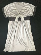 NWOT BCBG Generation Grayish Purple Lavender Silver Short Sleeve Dress Size 12 image 1