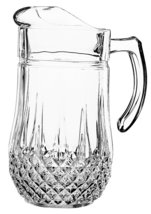 Cristal D'Arques Longchamp 50 1/2-Ounce Pitcher MADE IN FRANCE CLEAR CRY... - $49.75