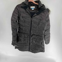 Columbia Gray Long Puffer Quilted Winter Jacket Womens Medium - $100.00