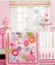 NEW Carter's Tropical Garden Pink 4pc Crib Baby Bedding Flamingo Turtle ... - $89.10