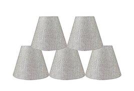 Urbanest Set of 5 3-inch by 6-inch by 5-inch Hardback Chandelier Shade, Metallic - $39.59