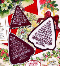 Noel en Rouge christmas holiday cross stitch chart Sue Hillis Designs - $8.10