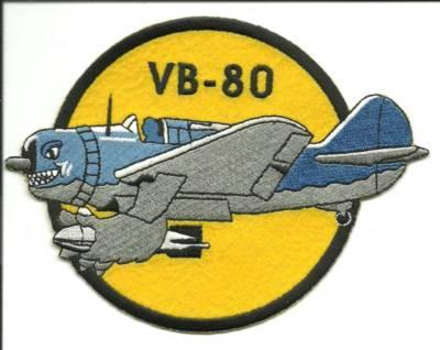 Primary image for US Navy VB-80 Dive Bomber Squadron 80 Patch