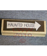 Wood-mounted Halloween Haunted House Arrow Rubber Stamp - $3.95