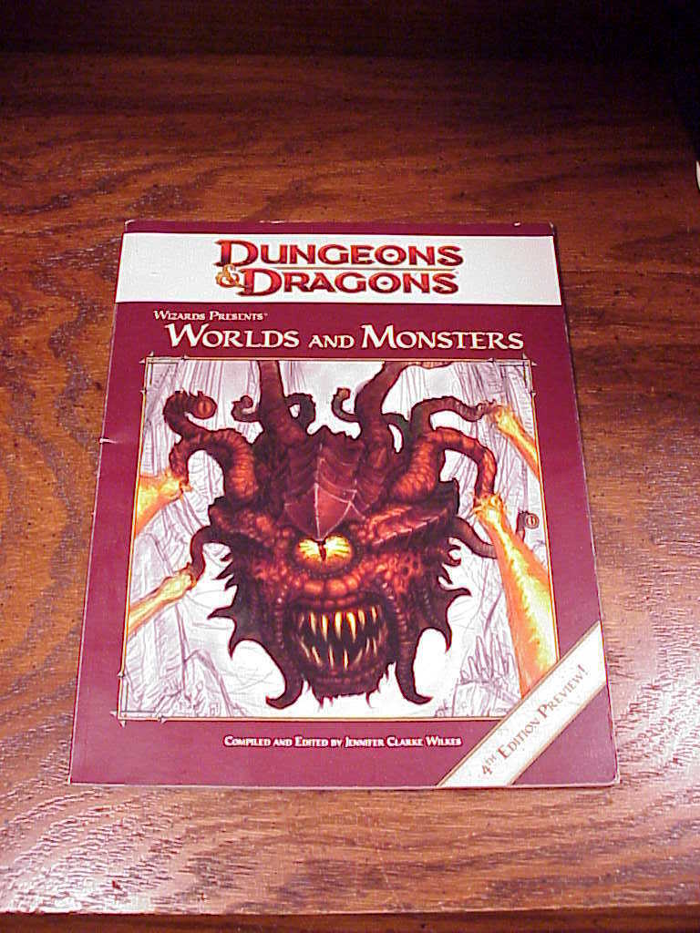 Dungeons and Dragons Worlds and  Monsters 4th Edition Preview Book, D and D - $7.95