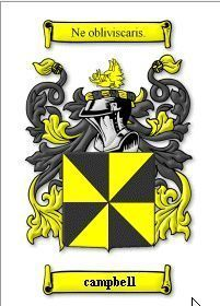 CAMPBELL Coat of Arms Print Family History CAMPBELL Bonanza