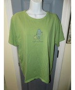 Life Is Good Green SS Leave No Trace Relaxed Fit T-shirt Size XL Women's... - $22.68