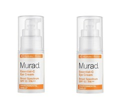 2-Murad Essential-C Eye Cream SPF15 PA++ 0.5 fl oz / 15mL x 2 AUTH - $29.54