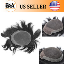 GEX Mens Toupee Front Lace and Skin Human hair Hair Replacement System Remy - $96.99+