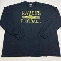 NFL T-Shirt Mens 3XL XXXL Black Long Sleeve Crew Neck Baltimore Ravens Graphics - $17.99