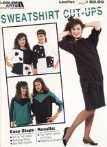 Sweatshirt CUT-UPS Leisure Arts Leaflet 1140 - $4.50