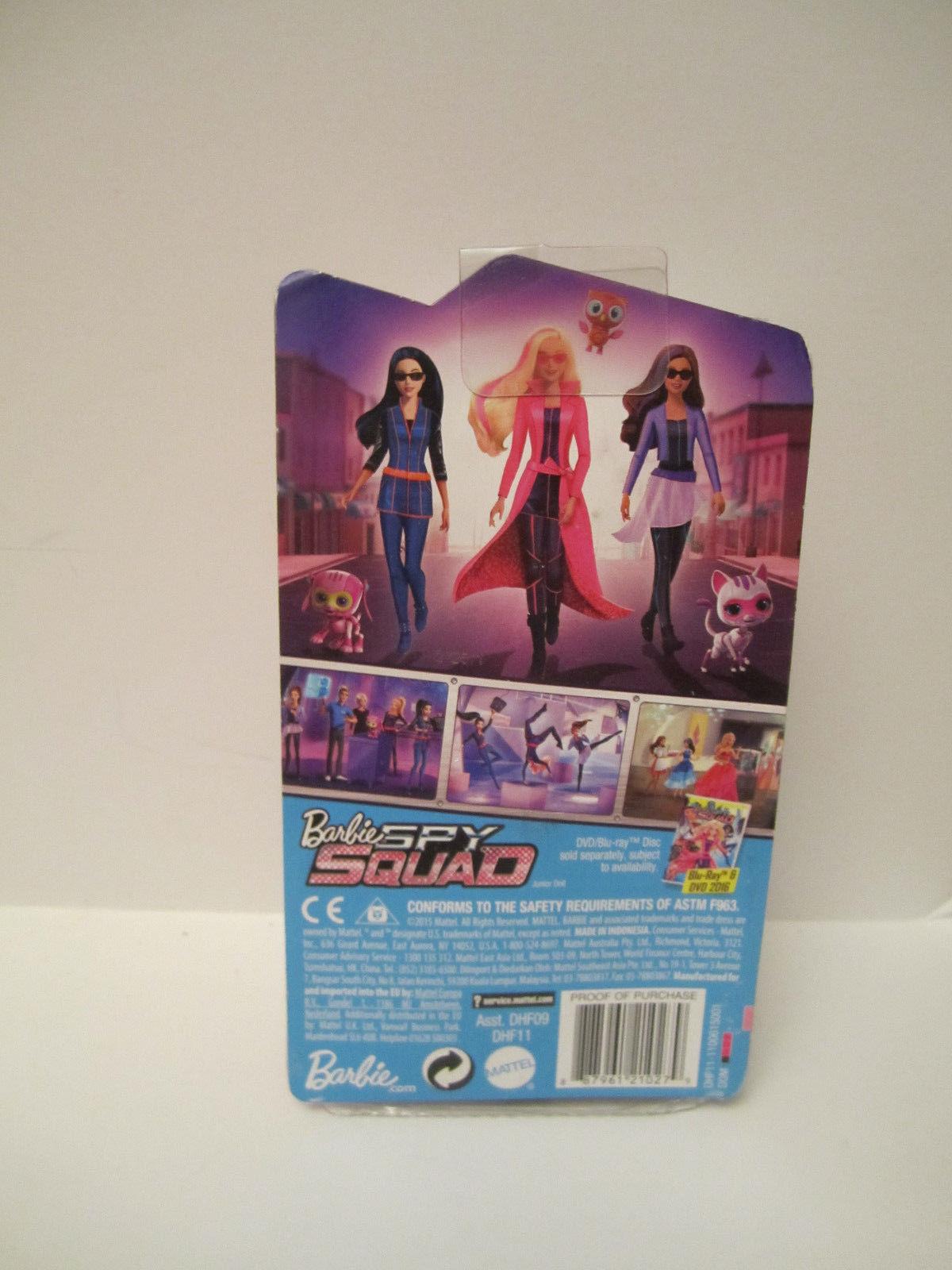 NRFB Barbie Sister Chelsea Barbie Spy Squad Doll Purple 2015 New Brunette Hair image 3