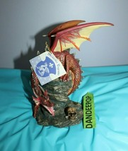 "Vintage Medieval Legends Dragon Carved Statue Figure 8"" Tall Collectibles - $34.64"