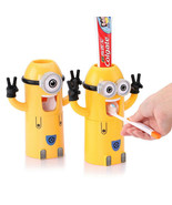 Dispicable Me Minion Automatic toothpaste dispenser Squeezer Toothbrush ... - $12.45