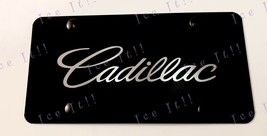 For Cadillac Escalade Laser Engraved Stainless Steel Black License Plate Frame - $29.69
