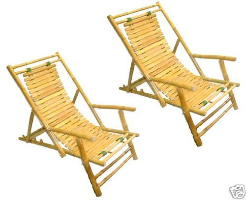 Strange Bamboo Beach Patio Lounge Chair Recliner And 50 Similar Items Inzonedesignstudio Interior Chair Design Inzonedesignstudiocom