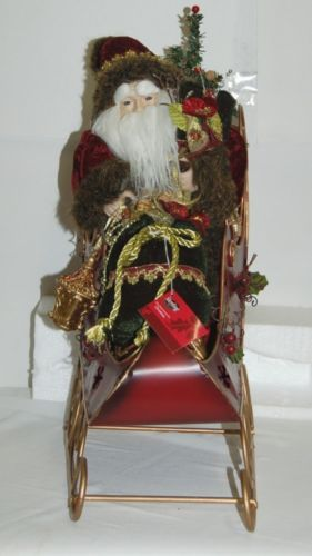 Sterling Brand Santa Riding Sleigh Christmas Decoration Product Number 5201012