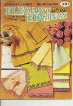 Elegant Edgings to Knit Crochet Tat Coats & Clark's Book No 189 Vintage ... - $6.50