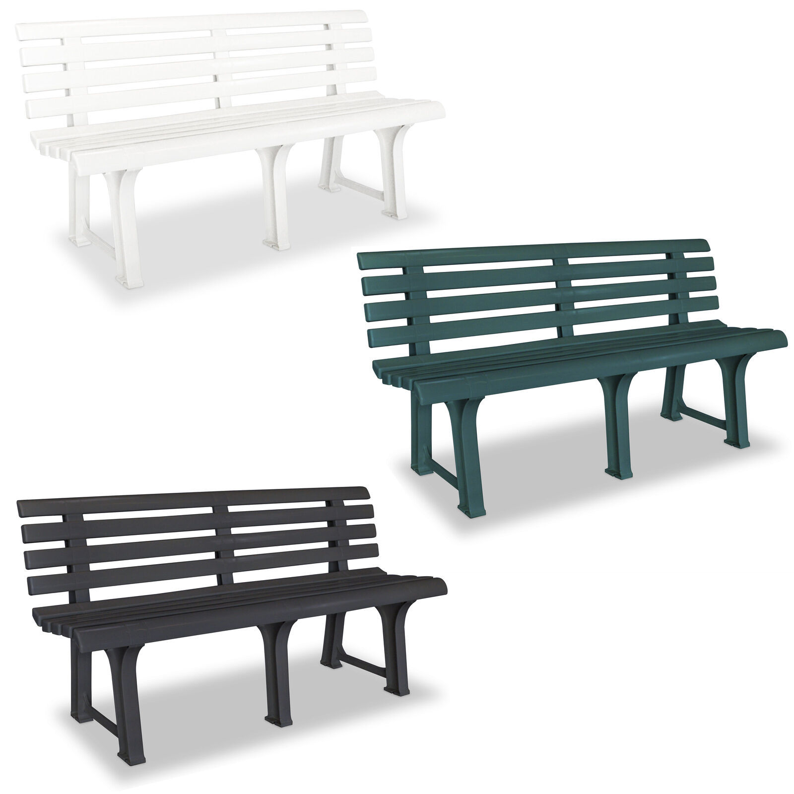 vidaXL Garden Bench Outdoor Bench Chair Garden Yard Furniture Multi Colors