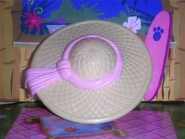 Fisher Price Loving Family Dollhouse Yellow Gardening Hat Mothers Sun Hat Pink - $2.96