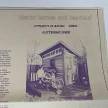 Better Homes & Gardens Blueprint Plan Puttering Shed Building Storage Ga... - $34.99