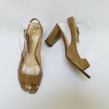 Kate Spade New York Womens Shoes Beige Heels Open Toe Slingbacks Italy Size 7 B - $79.15