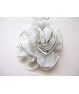 Printe Floral Creme Hair Clip - $5.00