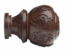 """Kirsch Wood Trends Classics Lacey Finial, for 2"""" pole, Mahogany (MPN# 46804083) - $35.62"""