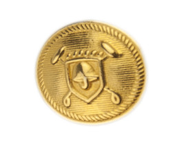 """Ralph Lauren Coat of Arms Gold Color Replacement Sleeve button .60/"""" older style"""