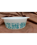 Pyrex Butterprint White with Turquoise Casserole 472 1 1/2 pint - $25.00