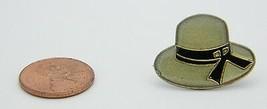 Late 1970's Early 1980's Woman's Gray Black Enamel Bucket Hat Lapel Pin F - $5.94
