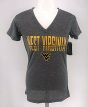 NWT NCAA West Virginia Mountaineers Ladies V- Neck T-Shirt Gray - $12.95