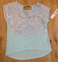 DKNY Girls'  Blue Light T-Shirt, Size M - $12.86