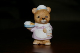 Homco Occupation Bear Waitress 8820 Home Interiors - $2.99