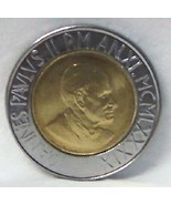 POPE JOHN PAUL II / GRAPEVINE VATICAN '89 BIMETAL COIN - $24.18