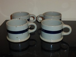 Dansk Blt Blue Coffee Mugs Set Of 4 Made In Japan - $49.00