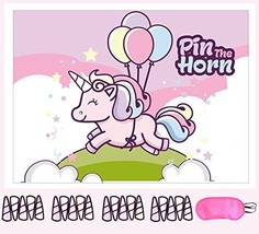 Pin The Horn on the Unicorn Party Supplies, Games and Decorations For Girls - Ra