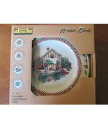 "Debbie Mumm ""Winter Birds"" Salad / Dessert Plat... - $10.00"