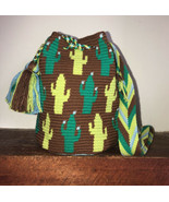 Authentic 100% Wayuu Mochila Colombian Bag medium size special cactus pa... - $60.00