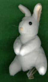 MINI WHITE BUNNY RABBIT FINGER PUPPET