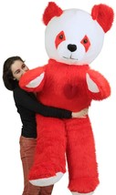 6 Foot Giant Stuffed Red Panda With Heart on Chest to Express Love, 72 I... - $143.21