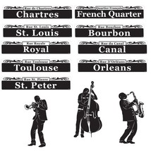 New Orleans Jazz Mardi Gras Cutouts Street Signs Paper Party Decorations - $7.99