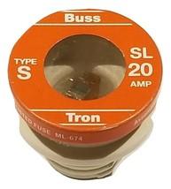 Buss S SL-20 20 Amp Time Delay Tamper-Proof Base Plug Fuse 125V (Single)