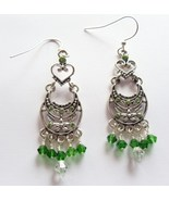 Swarovski Elements Emerald Green Earrings - $12.00