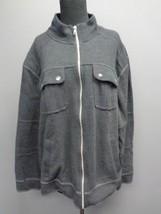 INC INTERNATIONAL CONCEPTS Smoky Gray Cotton Blend Full Zip Jacket  XL S... - $29.67