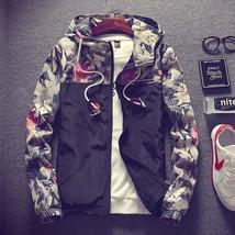 2017 Floral Bomber Jacket Men Hip Hop Slim Fit Flowers Pilot Bomber Jacket Coat